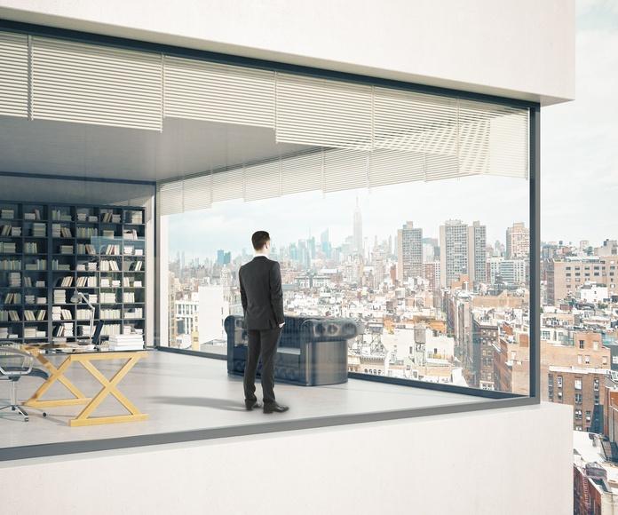 Cortinas de vidrio: Productos y servicios de Cristalería Jiménez