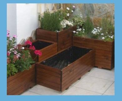 Jardineras de madera a medida