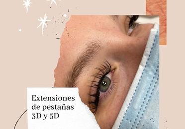 Extenciones de pestañas 3D y 5D