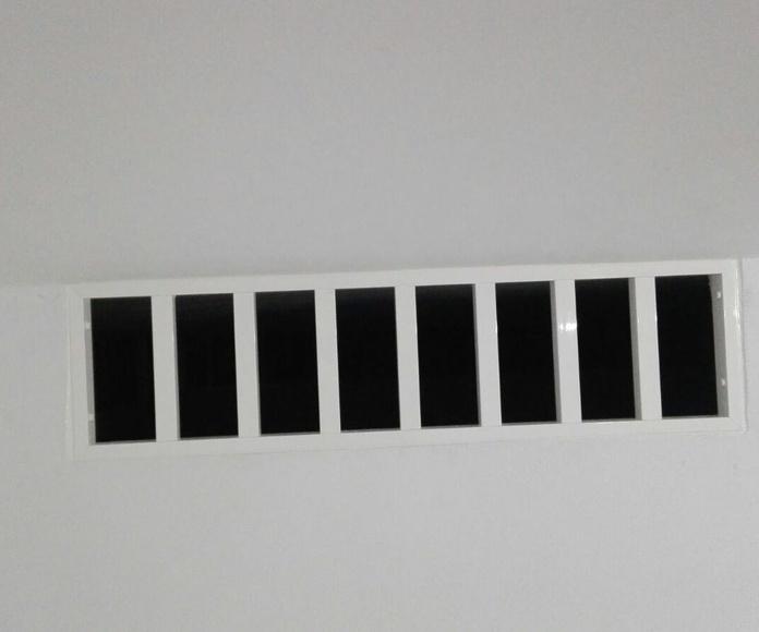 Rejas con barrotes de aluminio