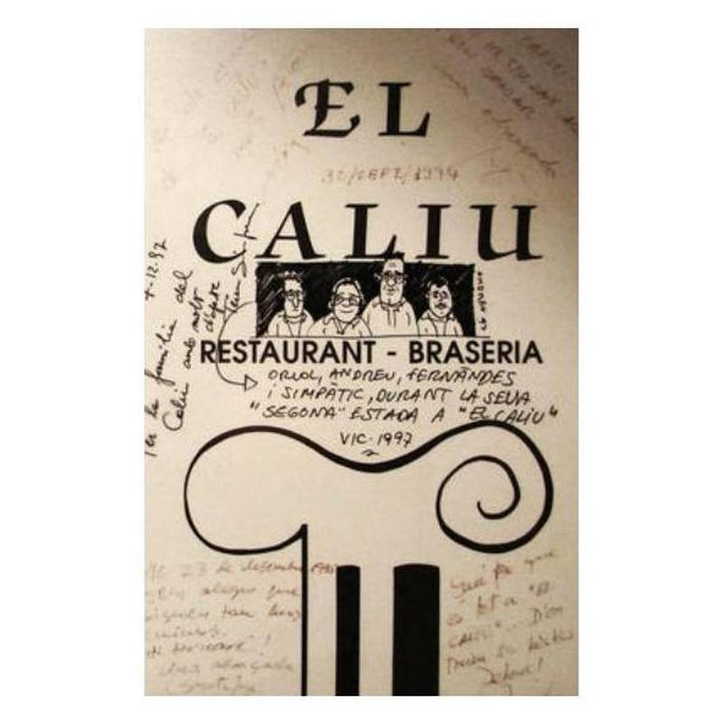 Temporada: La carta de Restaurant Brasería El Caliu