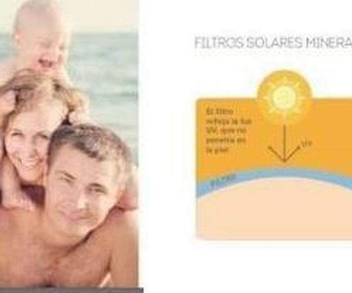 Filtros solares Minerales: Productos y servicios de Celeste Peluquería