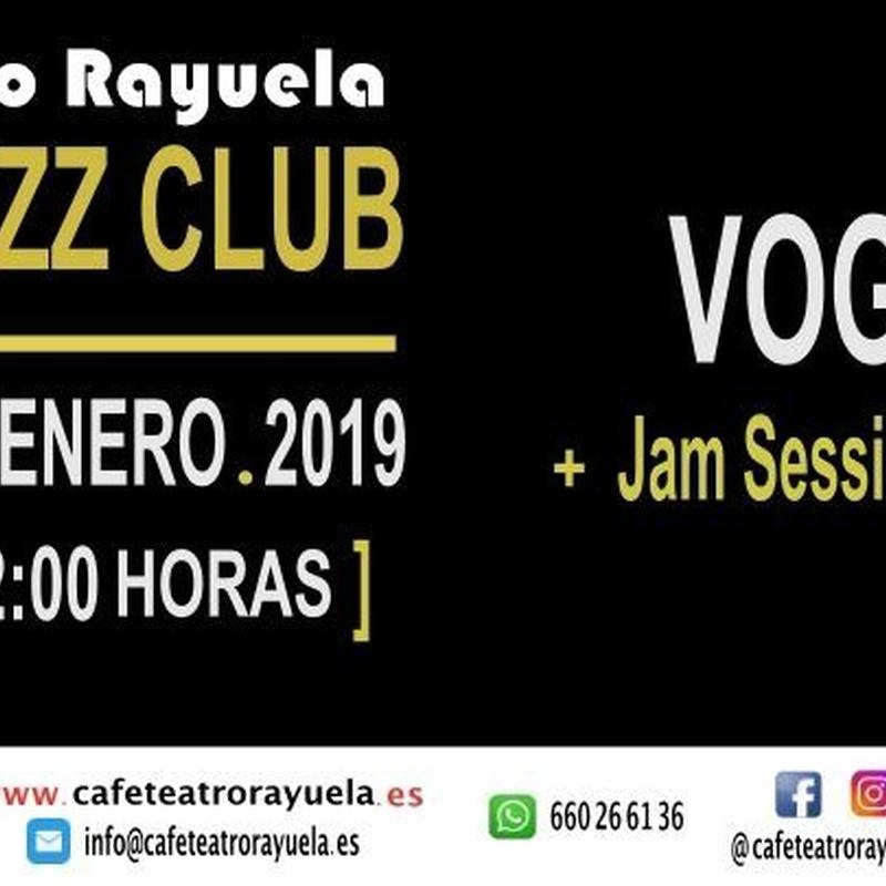 VOGALE: Programación de Café Teatro Rayuela