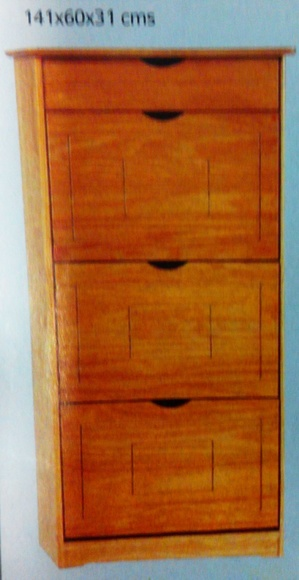 Zapatero pino mod.38: Productos  de Muebles Llueca, S. L.