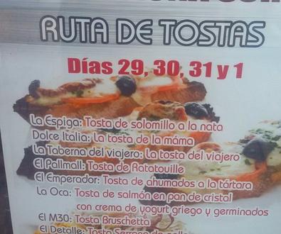 RUTA DE TOSTAS