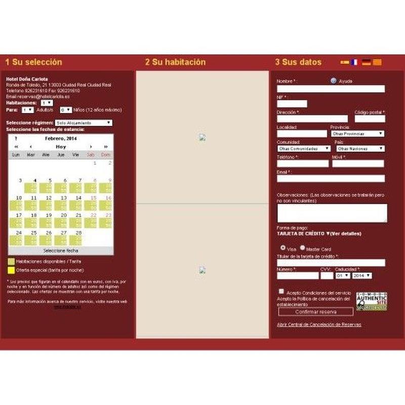 Reservas online: Productos y Servicios de Hotel Doña Carlota ****