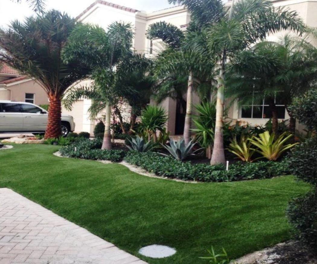Césped artificial y áridos para un jardín bonito y cómodo
