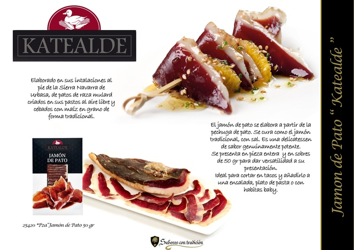 """Jamón de Pato """" Katealde """": Productos de Sabores con tradición"""