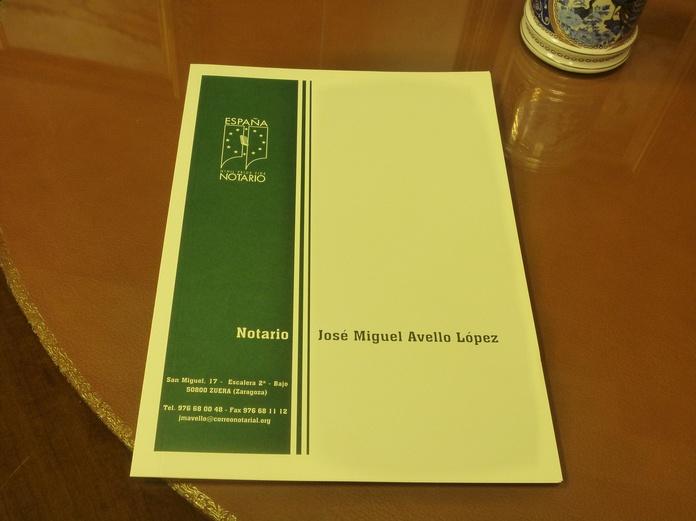 Artículo Cuarto: Aranceles de Notario José Miguel Avello
