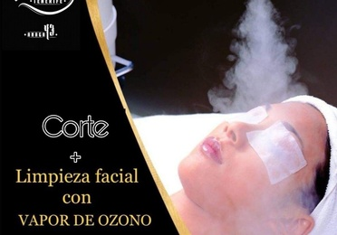 Limpieza faciales con vapor de ozono