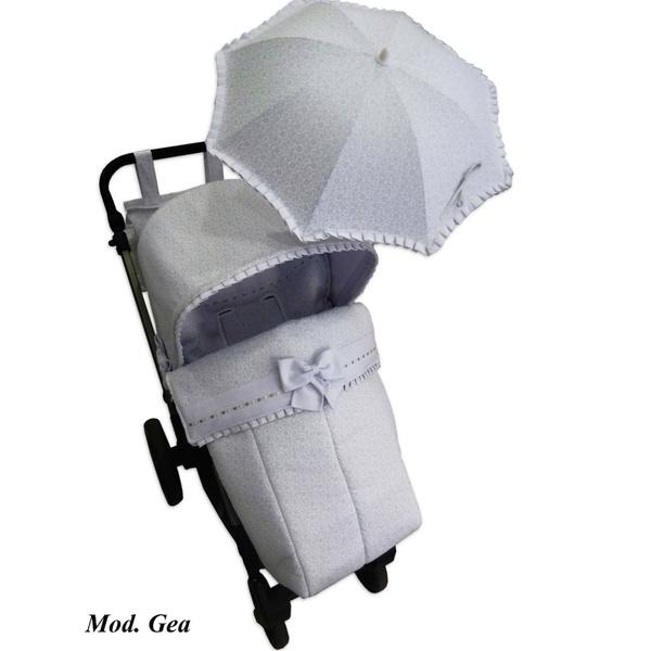 Conjunto de saco silla, capota, sombrilla y bolso personalizado para Jane Muum.