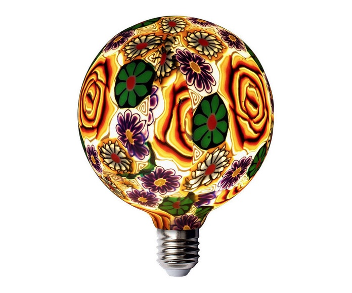 LAMPARA DECORATIVA LED  FLOR NARANJA E27 4W 230V 2200K