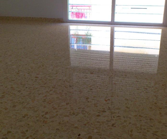 acabado final de terrazo pulido con diamante