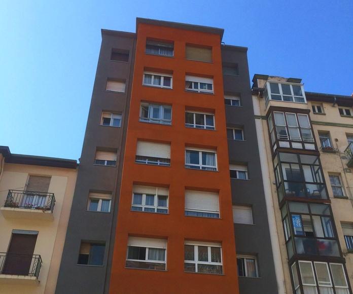 Rehabilitación energética de fachadas en Santander.