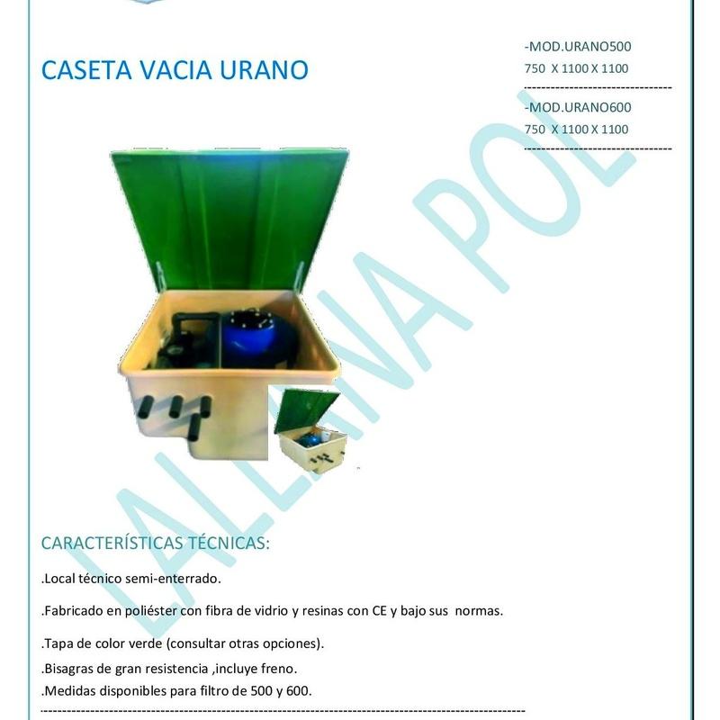 Caseta vacia modelo Urano para depuradoras de piscinas