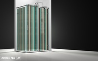 Mampara de baño Profiltek corredera serie Steel modelo ST-201 Classic decoración retro