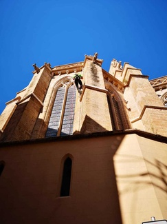 Trabajo realizado en la iglesia de Santa Eulalia de Palma de Mallorca