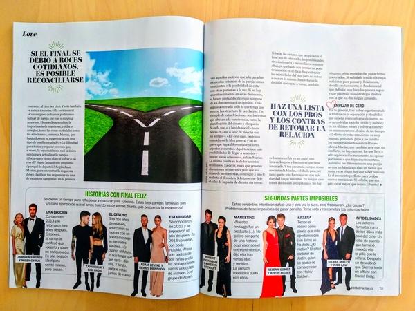 Colaboración en la revista Cosmopolitan