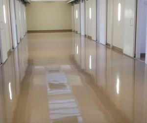Centro penitenciario de Soria. Autonivelante epoxi 4mm.