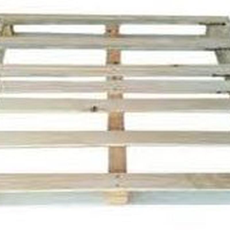 PALET DE 100 X 120 FINO PERIMETRICO: Productos  de Palets Blanca