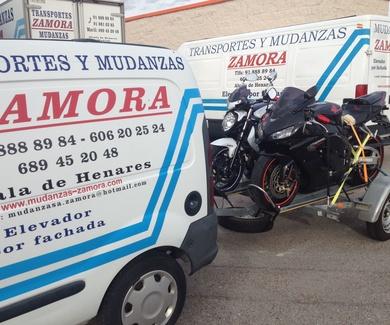 SERVICIO DE TRANSPORTE DE MOTOS.  MUDANZAS ZAMORA