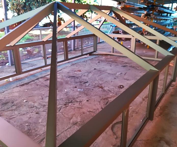 Estructura para techo de tubo.