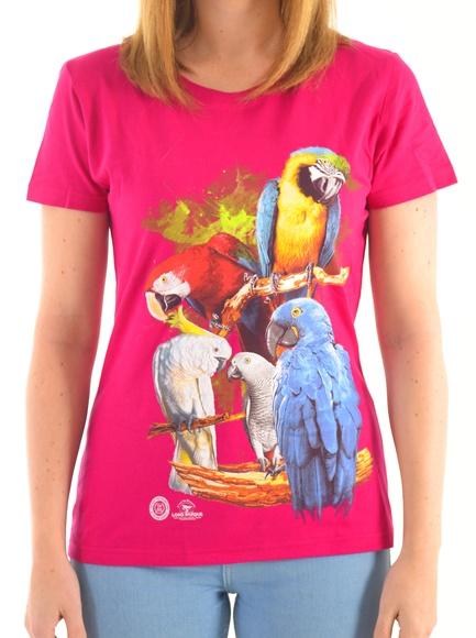Camiseta Mujer 5 Loros / 5 Parrots Women´s T-Shirt: Productos de BELLA TRADICION