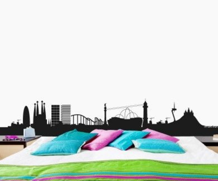 Wall sticker vinilo decorativo Barcelona Skyline en Barcelona