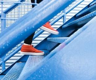 Escaleras de hierro para exterior