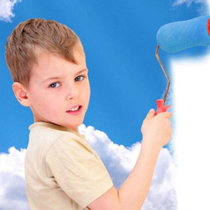 Pinturas especiales para las habitaciones de niños