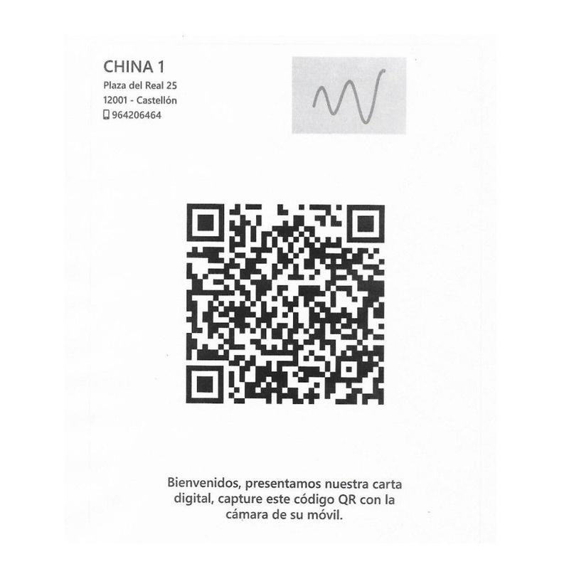 Código QR: La carta de Restaurante China I