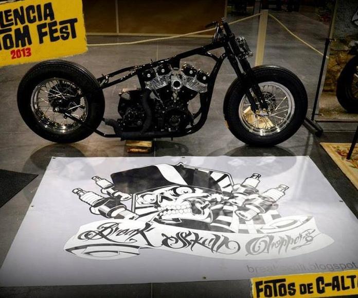 Customizar Harley, Personalizar Harley, Break Skull Choppers, Construcción motos custom, Personalización motos custom, Restauración motos custom, Transformación motos custom, Reparación de motos custom, Harley Davidson, Motos clásicas