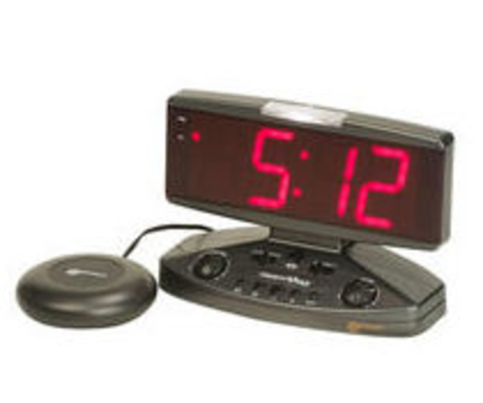 Relej despertador con números grandes y vibrador para sordos asturias