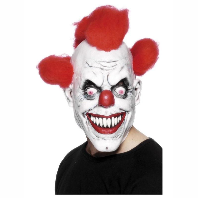 Máscara payaso pelo rojo