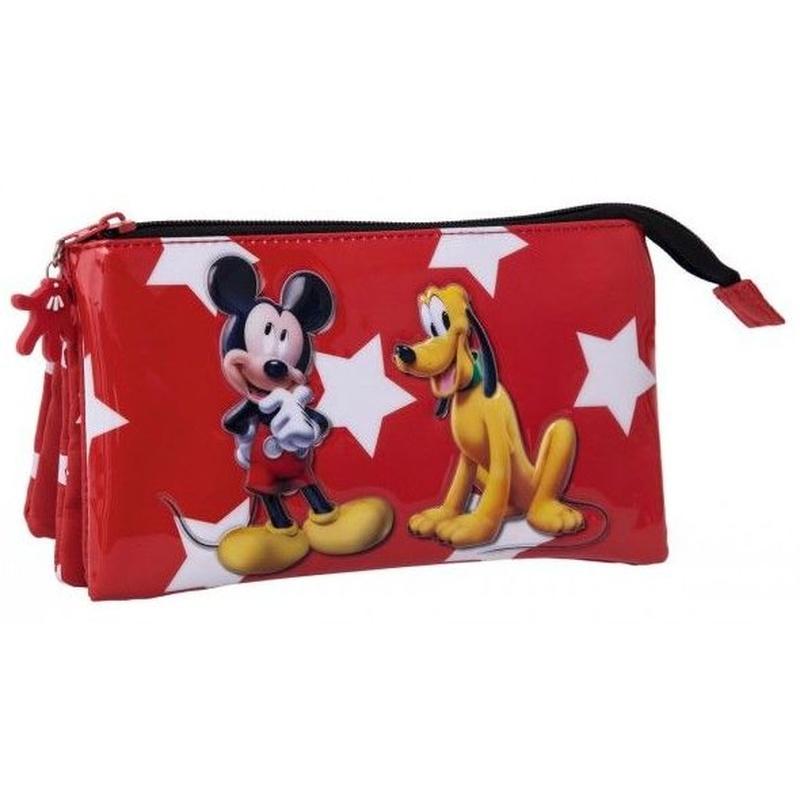 Portatodo tres compartimentos Mickey y Pluto