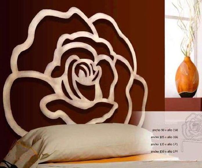 Cabecero Rosa-Africa: Catálogo de muebles de forja de Forja Manuel Jiménez