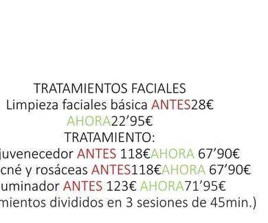 Oferta de tratamientos faciales en Torrejón de Ardoz