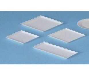 Bandejas rectangulares con ondas
