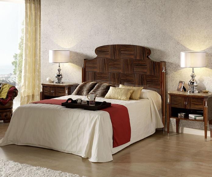 Dormitorio mod 83 Dafne, en chapa de ébano prefabricado