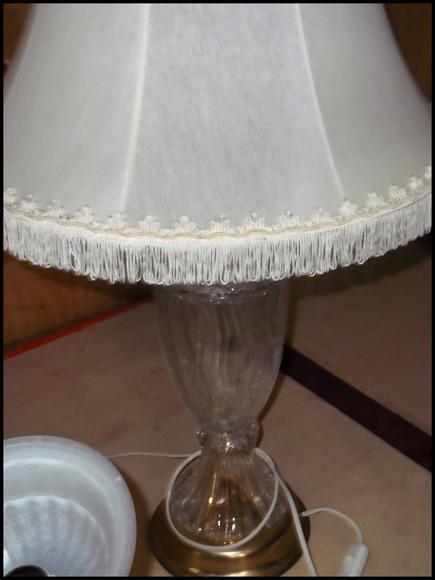 LAMPARA DE MESA2 PIE DE CRISTAL: Catálogo de Autodesguaces De Blas