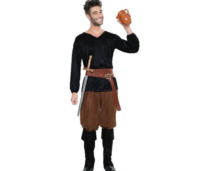Disfraz aldeano medieval negro