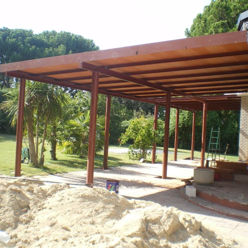 Estructura metálica de ampliación de la vivienda.