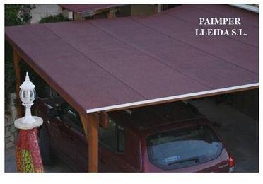 Cubiertas de Tégola en tejados de madera para casetas o porches
