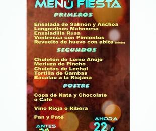 Menú Fiesta