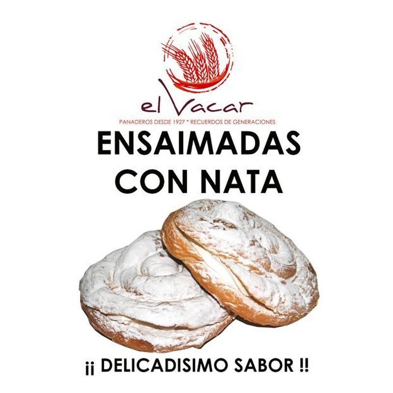 Ensaimadas con nata: Obrador de Pan El Vacar