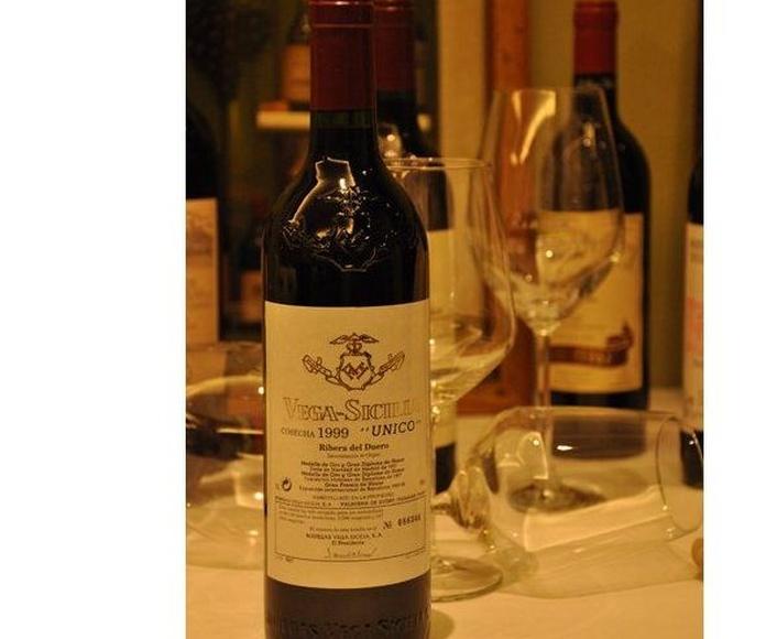 Vinos tintos D.O. Ribera del Duero : Carta  de El Rincón de la Abuela - Restaurante Marisquería