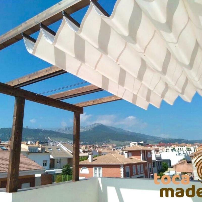 Pérgola con toldo: Productos y materiales de Toca Madera