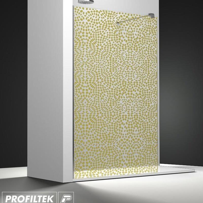 Mampara de baño Profiltek walk-in serie Belus modelo BS-200 decoración Forever