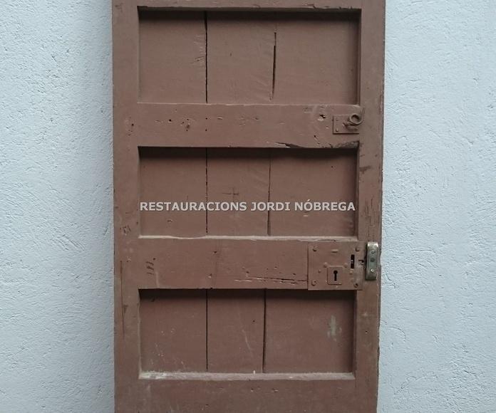 Restauración de puertas en Barcelona, Restauracions Jordi Nóbrega