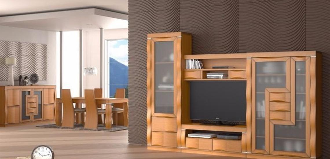 Tienda de muebles baratos en Getafe con salones de madera